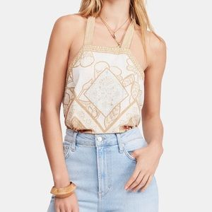 Free People Tops - Free people cool cabana cotton tank top